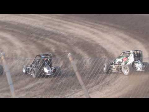 Gas City I-69 Speedway USAC heat 6/01/2016