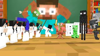 Monster School : TINY SADAKO APOCALYPSE - Minecraft Animation