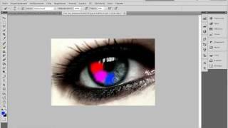 эффект  радужного глаза в Adobe Photoshop CS5 - фотошоп CS5