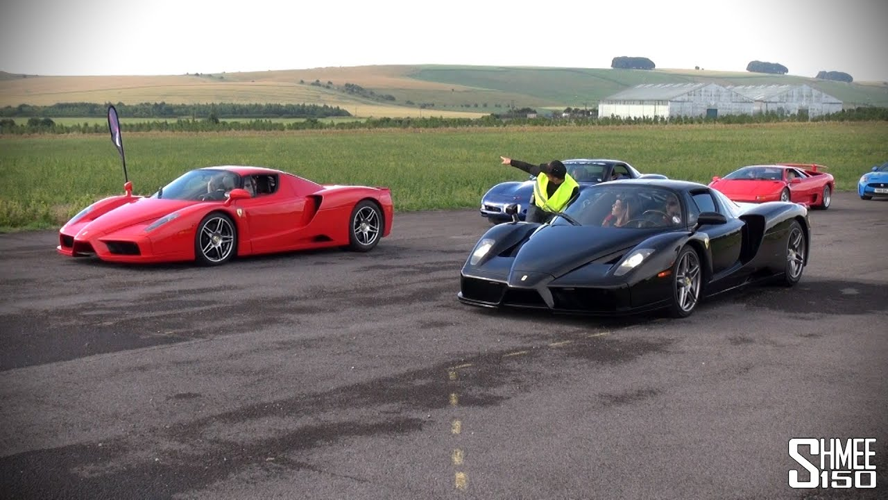 Ferrari Enzo Vs Ferrari Enzo Drag Race Youtube