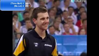 [2008 hero] ma Lin - Timo Boll (Team Gold match 2)