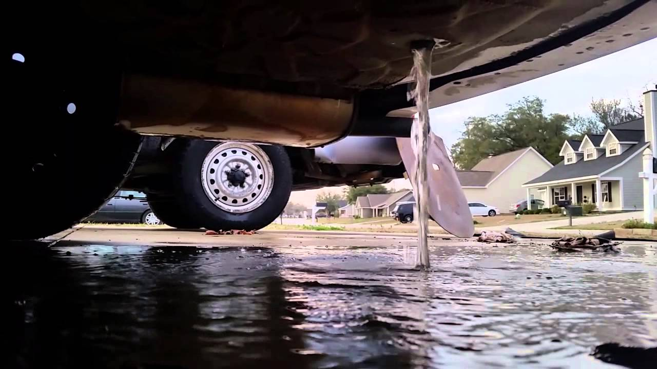 Water-logged trunk... Pulling the plug - YouTube