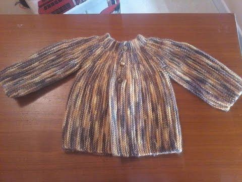 Tuto tricot layette   tricoter une jolie brassière pour bébé . - YouTube a8300adc6ee