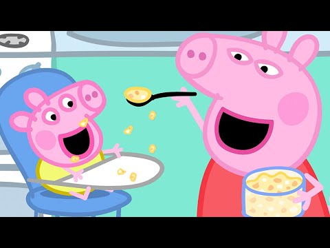 Peppa Pig Official Channel | Baby Alexander's Lunch Time With Peppa Pig