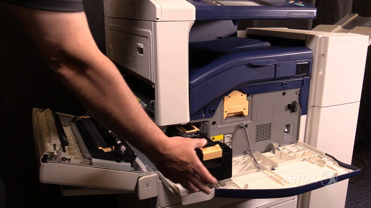 Xerox Workcentre 5335 Family Replacing The Drum Cartridge Youtube