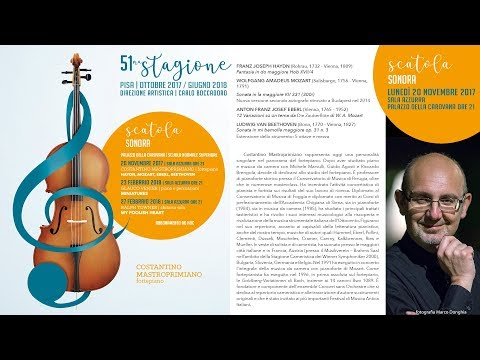 Costantino Mastroprimiano. Haydn, Mozart, Eberl, Beethoven - 20 novembre 2017