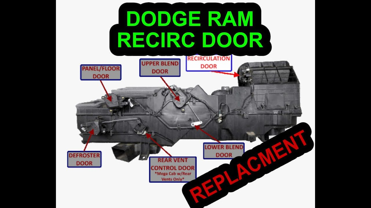 Replacing Recirculation Door 2006 Dodge Ram 3500 Cummins Non Premium Radio No Factory Amp Youtube