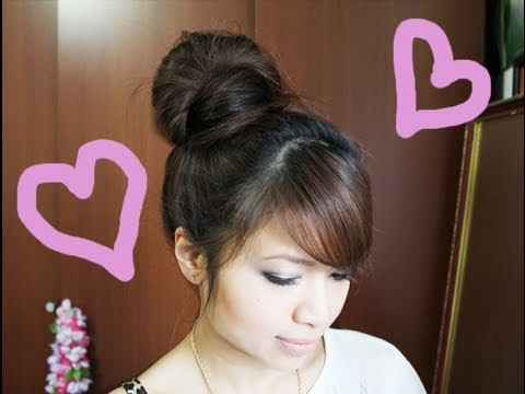 Wrap-Around Hair Bun Updo Hairstyle for Long Medium Hair Tutorial ...