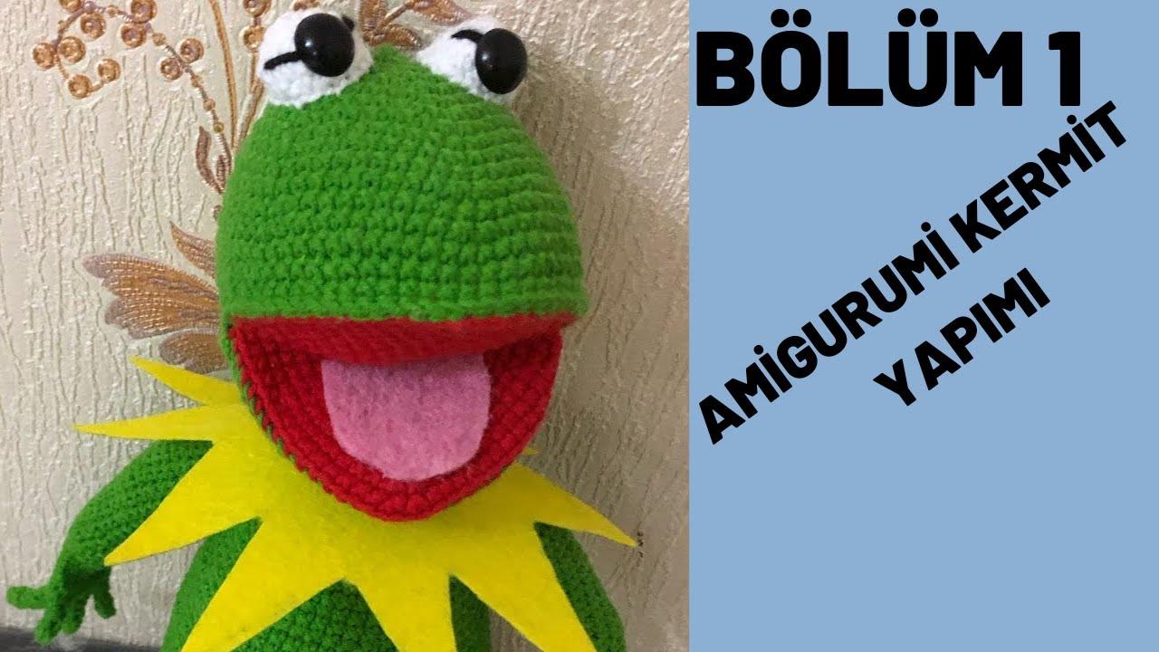 Amigurumi Kurbağa Kermit nasıl yapılır?1. bölüm ayak ve bacak yapımı