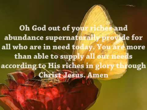 Daily Devotional and Daily Prayer July 8, 2015 - God of Supernatural  Provision