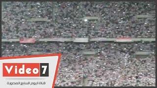 جماهير الزمالك تشعل ستاد برج العرب بالهتاف فور نزول اللاعبين