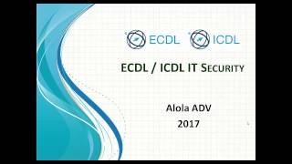 أسئلة امتحان شهادة ICDL لمادة IT Security أمن المعلومات  إنجليزي it security icdl test