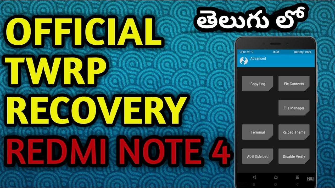 ✨ Download twrp redmi note 4 mido   How To Install TWRP and