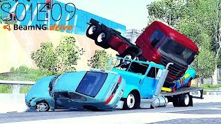 Beamng Drive Movie: Epic Police Chase #2 (+Sound Effects) |PART 9| - S01E09