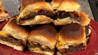 Ham and Cheese &amp Bacon Cheeseburger Slider Recipes!
