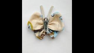 бабочка из ткани 2. Текстильная бабочка. Мастер класс