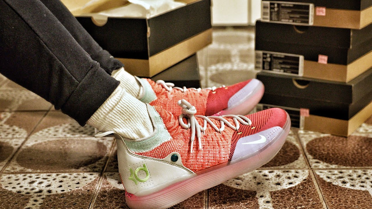 0ad47ab0489 Nike Outlet Find  Nike KD 11 EYBL Peach Jam Sneaker Unboxing and Preview