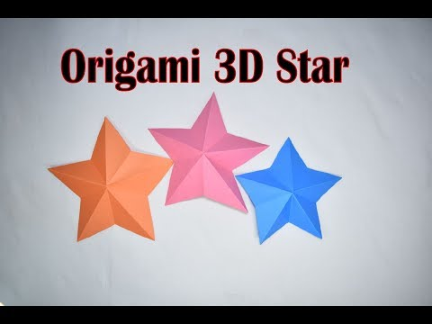 How to make origami star | Paper craft | Make 3D origami star