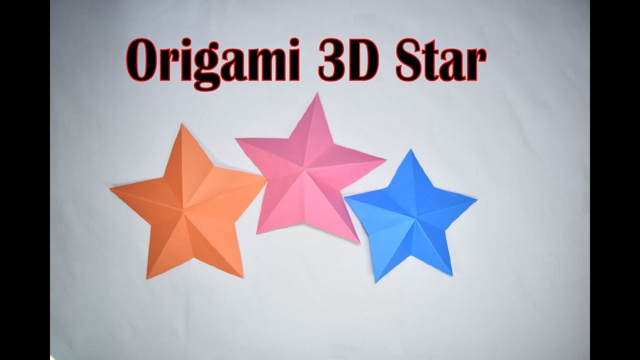 How to make origami star paper craft make 3d origami for Make a 3d star