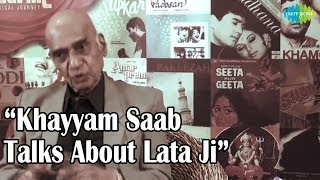 Khayyam Saab Talks About Lata Ji - A Musical Journey Of Lata Mangeshkar - The Nightingale Of India