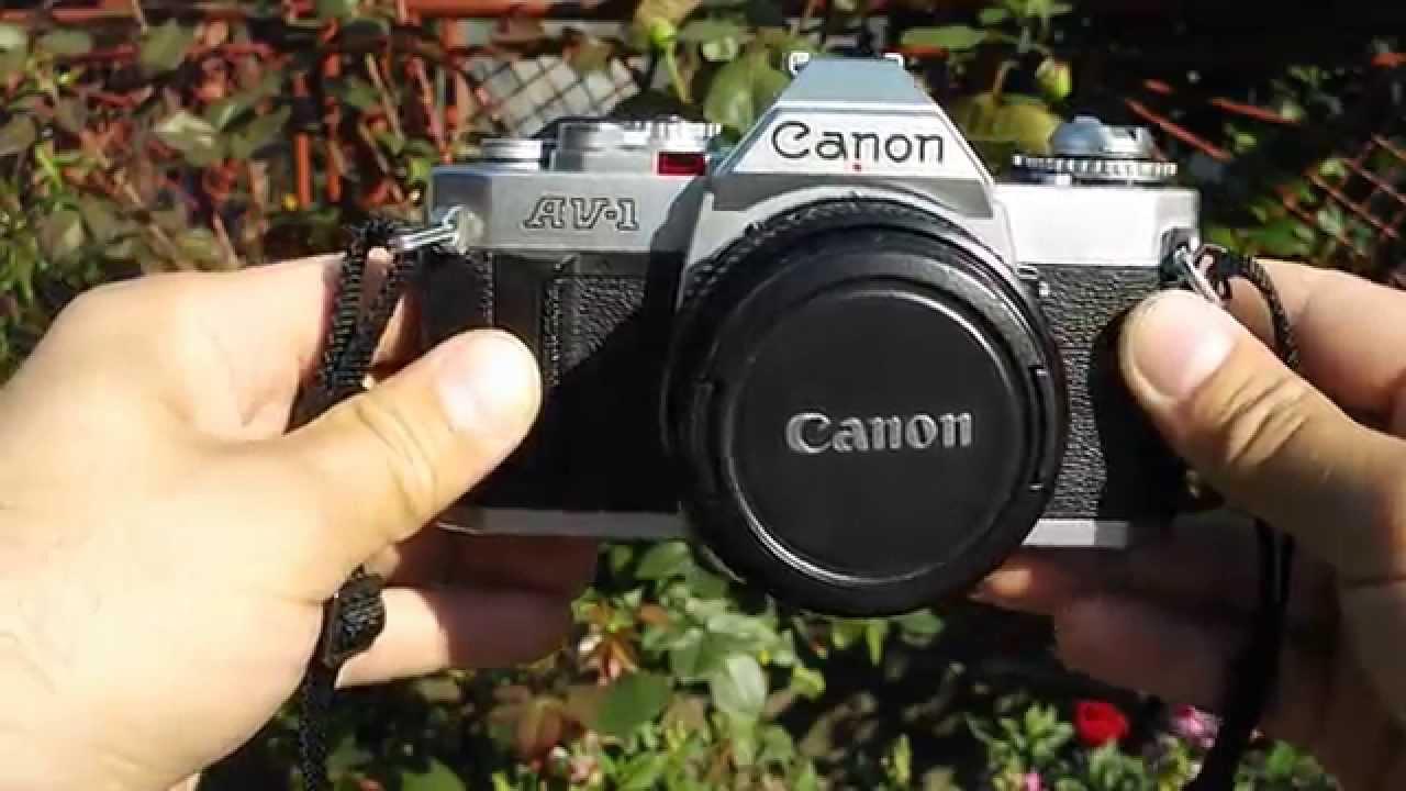 Vintage Canon AV1 with 50mm basic lens Canon FD 1:1,8