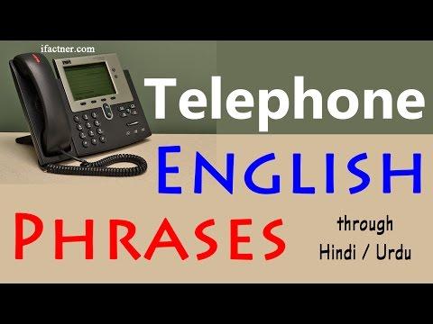 Important Telephone phrases in English - Speak English fluently on the phone through Hindi and Urdu