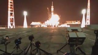 【360°VR動画】 ソユーズ打ち上げ 爆風でカメラも転倒 REUTERS