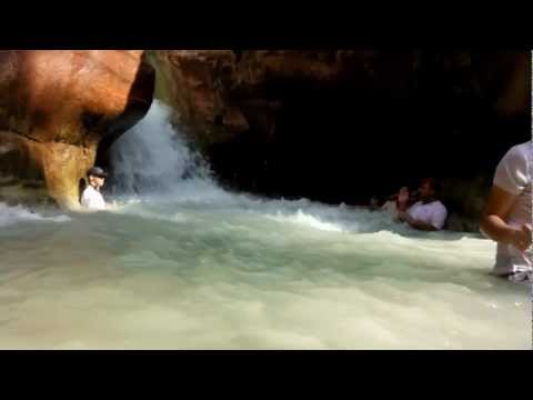 Wadi Zarqa Ma'in - Hiking & Canyoning trip - 5 Oct  2012