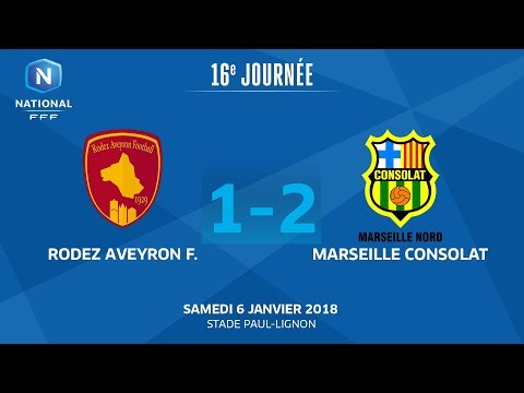 J16 : Rodez Aveyron F - Marseille Consolat (1-2), le replay