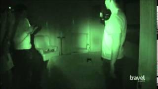 the ghost adventures crew conducts evp ghost box session at the palmer house hotel