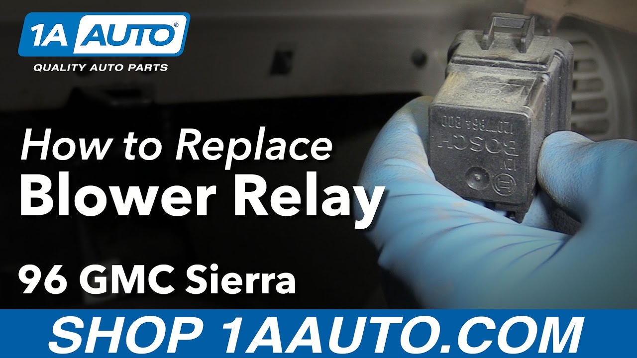 How to Replace Blower Relay 8898 GMC K1500  YouTube