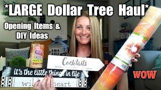 Large Dollar Tree Haul/ Opening & Trying Items/ DIY Ideas/ July 9