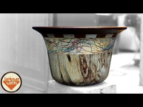 Epoxy Wire & Wood Bowl
