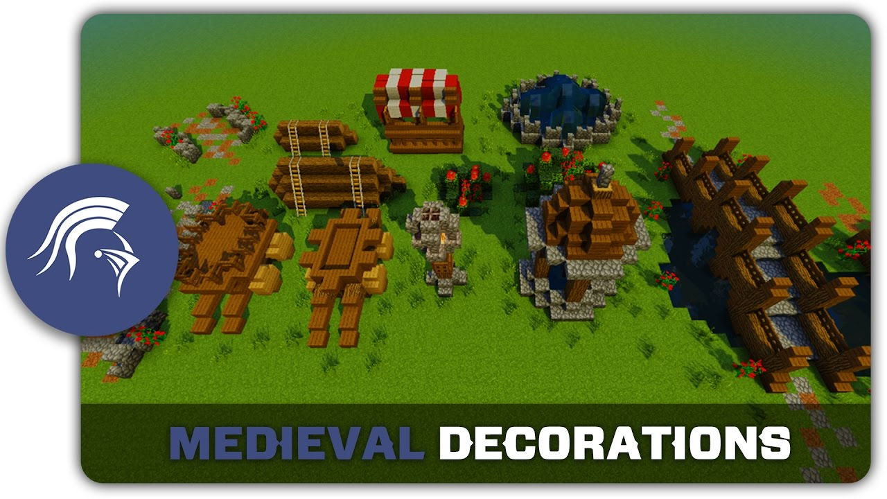 Minecraft Building Tutorial How To Build Medieval Town Decorations