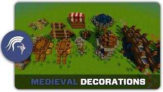 medieval minecraft decorations build town building tutorial