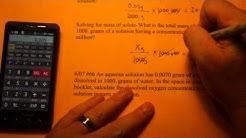Calculating Part Per Million (ppm)
