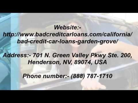Bad Credit Car Loans Garden Grove