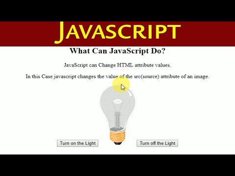 Javascript For Beginners | Bulb On/off Using Javascript |JavaScript Can Change HTML Attribute Values