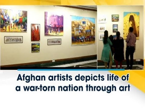 Afghan artists depicts life of a war-torn nation through art