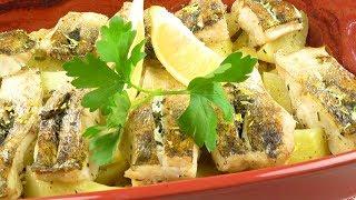 Судак,  запеченный с картофелем | Pike perch, baked with potatoes