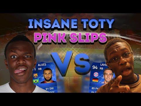 INSANE TOTY PINK SLIPS | KSI Vs ComedyShortsGamer (FIFA 14)