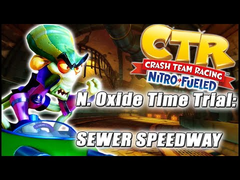 Nitros Oxide Time Trial - SEWER SPEEDWAY || Crash Team Racing Nitro-Fueled (SHORTCUT ON ALL 3 LAPS)