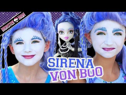 Monster High Sirena Von Boo Makeup Tutorial! Collab CuteGirlsHairstyles & KITTIESMAMA
