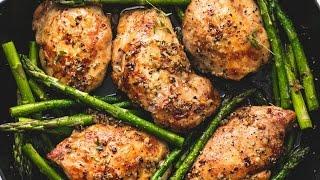 One Pan Garlic Herb Chicken & Asparagus