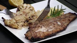 Grilled Red Snapper and Cauliflower Steaks