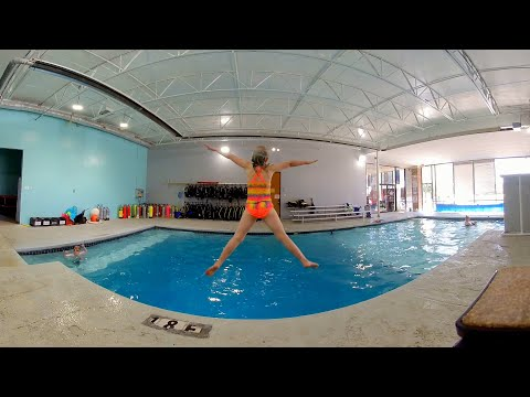 Jumping into the Swimming Pool in 3D