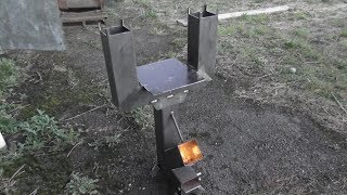 Rocket Stove Twin Exhaust Attachment