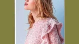 Вязание спицами. Кофта Нежность