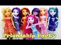 My Little Pony Equestria Girls Fashion Dolls FRIENDSHIP PARTY PACK