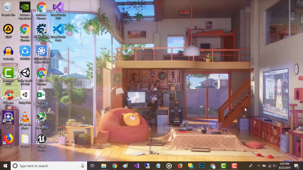 3D Room Anime Loop Wallpaper Engine Anime Free